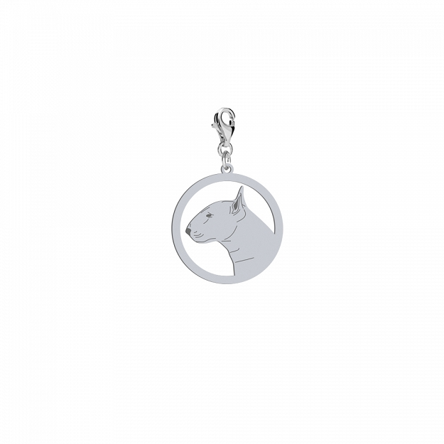 Charms Bulterier Standard gold-plated rhodium-plated silver FREE ENGRAVING