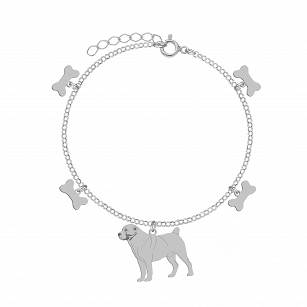 Bracelet Central Asian Shepherd (Asian) gold-plated rhodium-plated silver FREE ENGRAVING