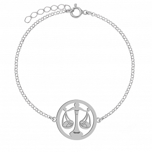 Bracelet Zodiac sign LIBRA gold-plated rhodium-plated silver FREE ENGRAVING