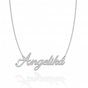 Necklace ANGELIKA SWAROVSKI in rhodium-plated or gold-plated silver