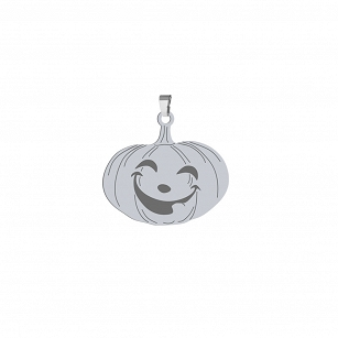 Pendant Halloween Pumpkin gold-plated rhodium-plated silver