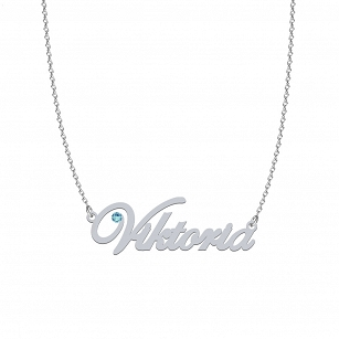 VIKTORIA SWAROVSKI necklace in rhodium-plated or gold-plated silver