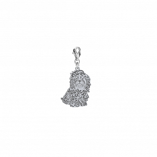 Charms Bolonka Russian silver rhodium plated or gold-plated FREE ENGRAVING - MEJK Jewelery