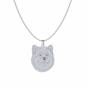 Necklace Alaskan Malamute gold-plated rhodium-plated silver FREE ENGRAVING
