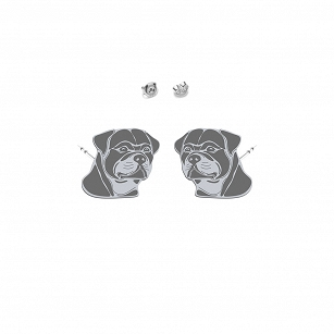 Earrings Rottweiler silver rhodium-plated gold-plated - MEJK Jewellery