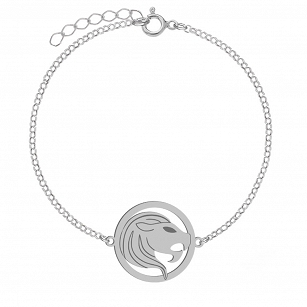 Bracelet Zodiac sign LEO gold-plated rhodium-plated silver FREE ENGRAVING