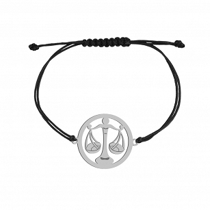Bracelet Zodiac sign LIBRA gold-plated rhodium-plated silver twine FREE ENGRAVING
