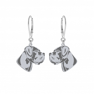 Earrings Cane Corso silver rhodium plated or gold-plated FREE ENGRAVING - MEJK Jewelery