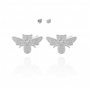 Earrings BEE SWAROVSKI gold-plated rhodium-plated silver