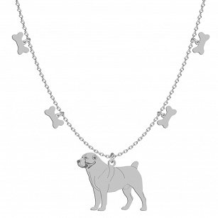 Necklace Central Asian Shepherd Dog (Asian) gold-plated rhodium-plated silver FREE ENGRAVING