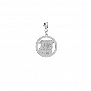 Charms Bulldog Continental gold-plated rhodium-plated silver