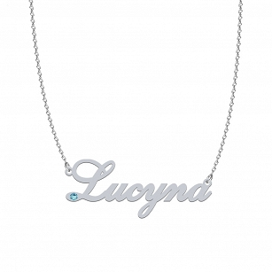 LUCYNA SWAROVSKI necklace in rhodium-plated or gold-plated silver