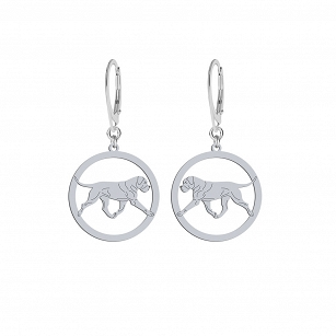 Earrings Cane Corso silver rhodium plated or gold-plated ENGRAVING FREE - MEJK Jewelery