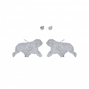 Earrings Polish Lowland Sheepdog silver rhodium-plated gold-plated  - MEJK Jewellery