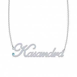 KASANDRA SWAROVSKI necklace in rhodium-plated or gold-plated silver