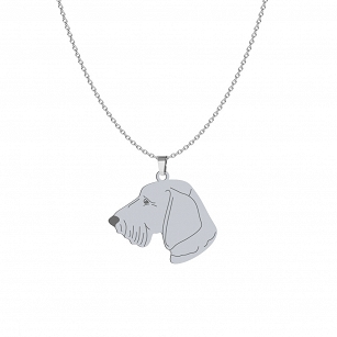 Necklace Wirehaired Dachshund silver rhodium plated gold ENGRAVING FREE - MEJK Jewellery