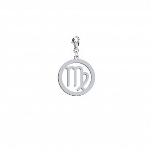 Charms Zodiac sign Virgo - rhodium-plated or gold-plated silver