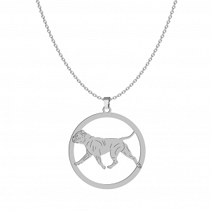 Necklace Bulldog Continental gold-plated rhodium-plated silver FREE ENGRAVING