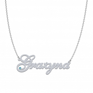 GRAŻYNA SWAROVSKI necklace in rhodium-plated or gold-plated silver