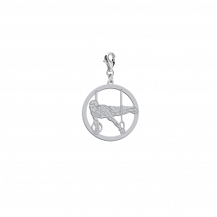 Charms Instrument gymnastics in rhodium-plated or gold-plated silver
